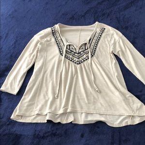 Beige shirt/blouse